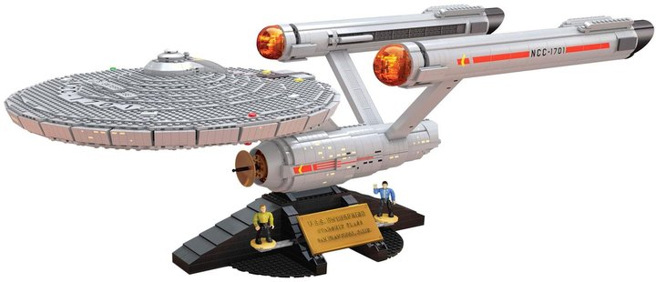 Mega Bloks Star Trek U.S.S. Enterprise NCC-1701 Collector Construction Set Building Kit