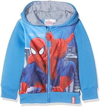 Spiderman DC Comics Crime Fighter,Boy's Hooded Sweatshirt, Blue, (Manufacturer Size: 3 Years)