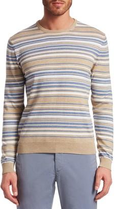 Saks Fifth Avenue Stripe Crewneck Cotton Sweater