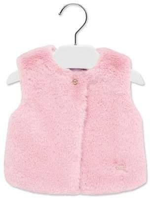 Mayoral Girl's Faux Fur Vest, Size 6-36 Months