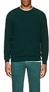 Loro Piana Men's Rib-Knit Cashmere-Silk Sweater - Dk. Green