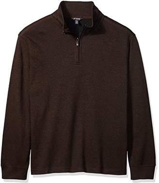Van Heusen Men's Big and Tall Long Sleeve Spectator Solid 1/4 Zip Shirt
