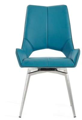 Global Furniture USA Global Furniture Bucket seat Style Turquoise Dining Chair