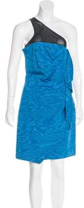 Robert Rodriguez One-Shoulder Knee-Length Dress