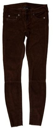 True Religion Leather Low-Rise Pants