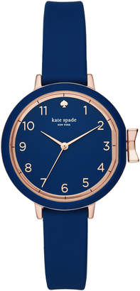 Kate Spade park row navy silicone watch