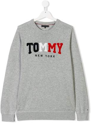 Tommy Hilfiger Junior TEEN logo patch sweatshirt
