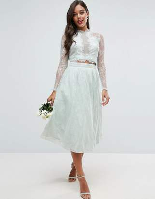 Asos Design Bridesmaid Lace Prom Skirt