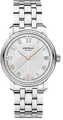 Montblanc 114367 Women's Tradition Date Bracelet Strap Watch, Silver