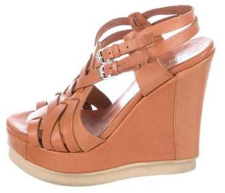 Philosophy di Alberta Ferretti Leather Wedge Sandals