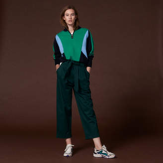 Sandro Large trousers with a belted high-waist