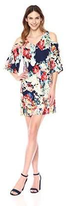 Tiana B Women's Cold Shoulder Print Dress