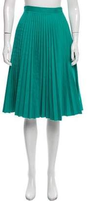 Antipodium Pleated Knee-Length Skirt