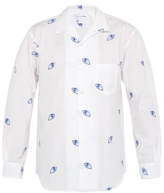 Comme des Garcons Eye Jacquard Woven Cotton Shirt - Mens - White