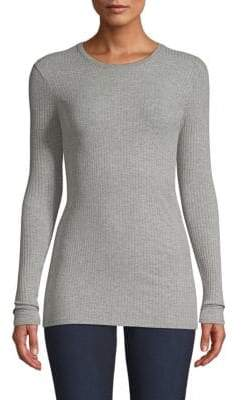 ATM Anthony Thomas Melillo Long Sleeve Rib-Knit Tee