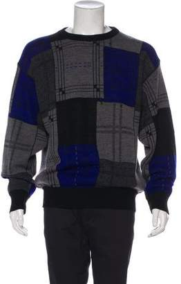 Gianni Versace Abstract Intarsia Wool Sweater