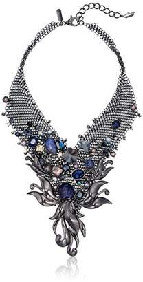 Badgley Mischka Pearl & Stone Statement Necklace