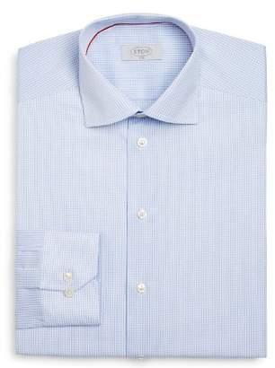Eton of Sweden Grid Check Slim Fit Dress Shirt