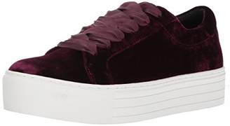 Kenneth Cole New York Women's Abbey Platform Lace up Velvet Fashion Sneaker