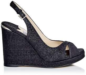 Jimmy Choo Amely 105 Fabric Slingback Wedge Sandals