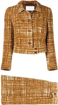 Prada Pre-Owned 2000'S tweed skirt suit