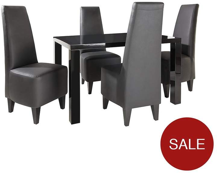 Buy Atlantic 120 Cm Gloss Dining Table + 4 Manhattan Chairs!