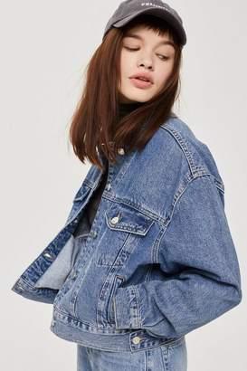 Tall cropped denim jacket