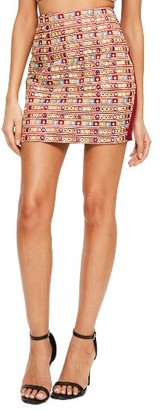 Women's Missguided Embellished Miniskirt $72 thestylecure.com