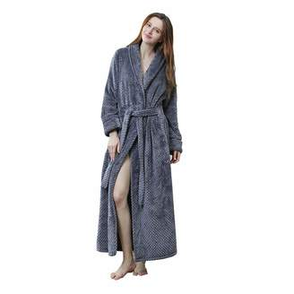 Vim Tree Women s Plush Soft Warm Fleece Bathrobe Luxurious Long Robe e4c3b7ef0