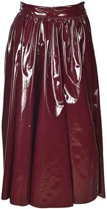 MSGM Patent Midi Skirt