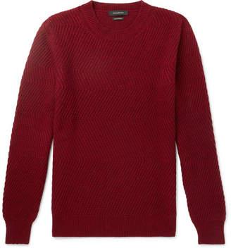 Ermenegildo Zegna Ribbed Cashmere Sweater - Red