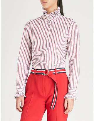 Claudie Pierlot Colombe ruffled cotton-poplin shirt