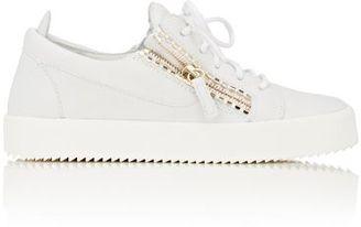 Giuseppe Zanotti Women's Double-Zip Low-Top Sneakers-WHITE $675 thestylecure.com
