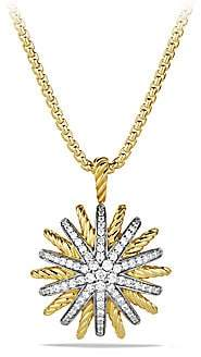 David Yurman Women's Starburst Medium Pendant with Diamonds on Chain