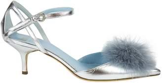 Frances Valentine Metallic Leather Heels