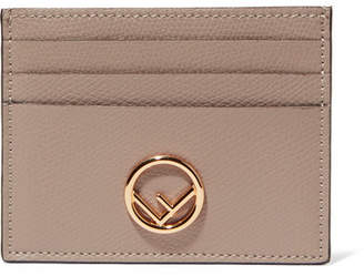 Fendi Textured-leather Cardholder - Beige