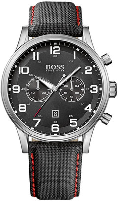 HUGO BOSS Men's Aeroliner Quartz Multi-Function Watch $295 thestylecure.com