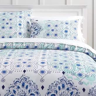 Pottery Barn Teen Kelly Slater Organic Ocean Floral Duvet Cover, Twin/Twin XL, Blue Multi