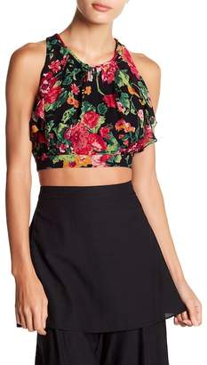 BCBGMAXAZRIA Tropical Garden Crop Top
