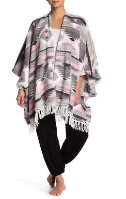 Couture PJ Geo Printed Fuzzy Knit Cardigan