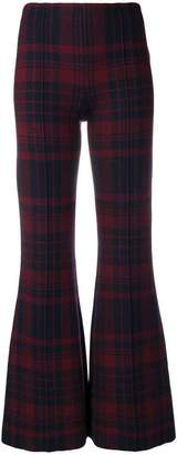 Sonia Rykiel tartan pattern flared trousers