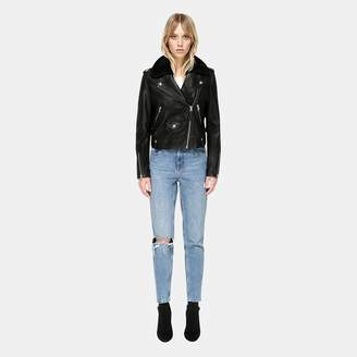 Mackage Baya Leather Moto Jacket