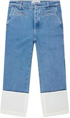 Loewe Stonewashed Turn-Up Hem Jeans