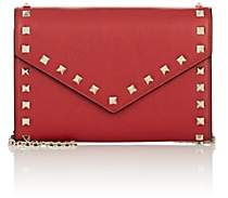 Valentino Women's Rockstud Leather Chain Wallet - Red