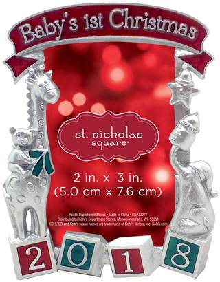 kohls st nicholas square 2018 babys 1st 2 x 3 photo holder christmas