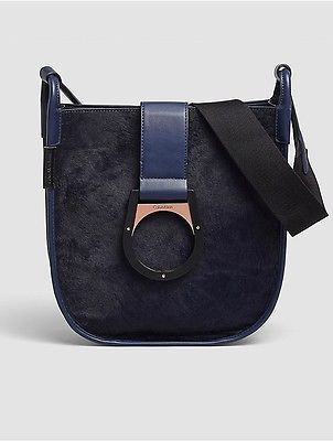 Calvin Klein Calvin Klein Womens Industrial Ring Saddle Bag Indigo