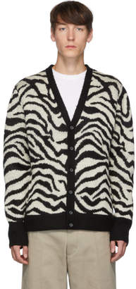Noon Goons Black and White Tiger Cardigan
