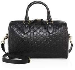 Gucci Medium Soft Signature Leather Boston Bag