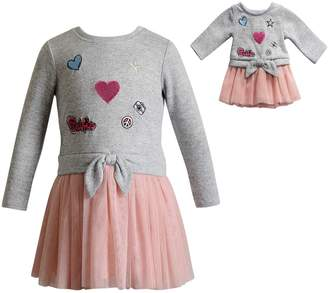 Dollie & Me Girls 4-14 Sweater & Tulle Dress & Matching Doll Dress