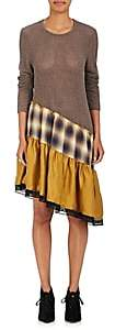 MM6 MAISON MARGIELA Women's Mixed Media Relaxed Tunic Dress - Mustard